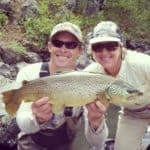 jay and diane with a monster brown