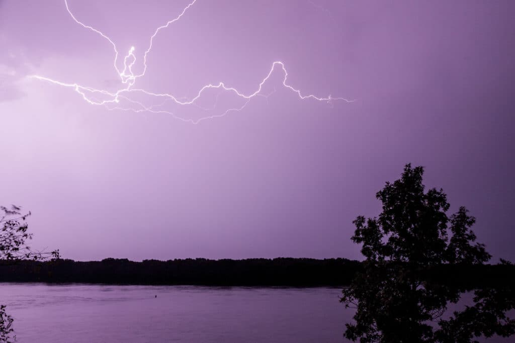 What to do when you get caught in a lightning storm while fishing