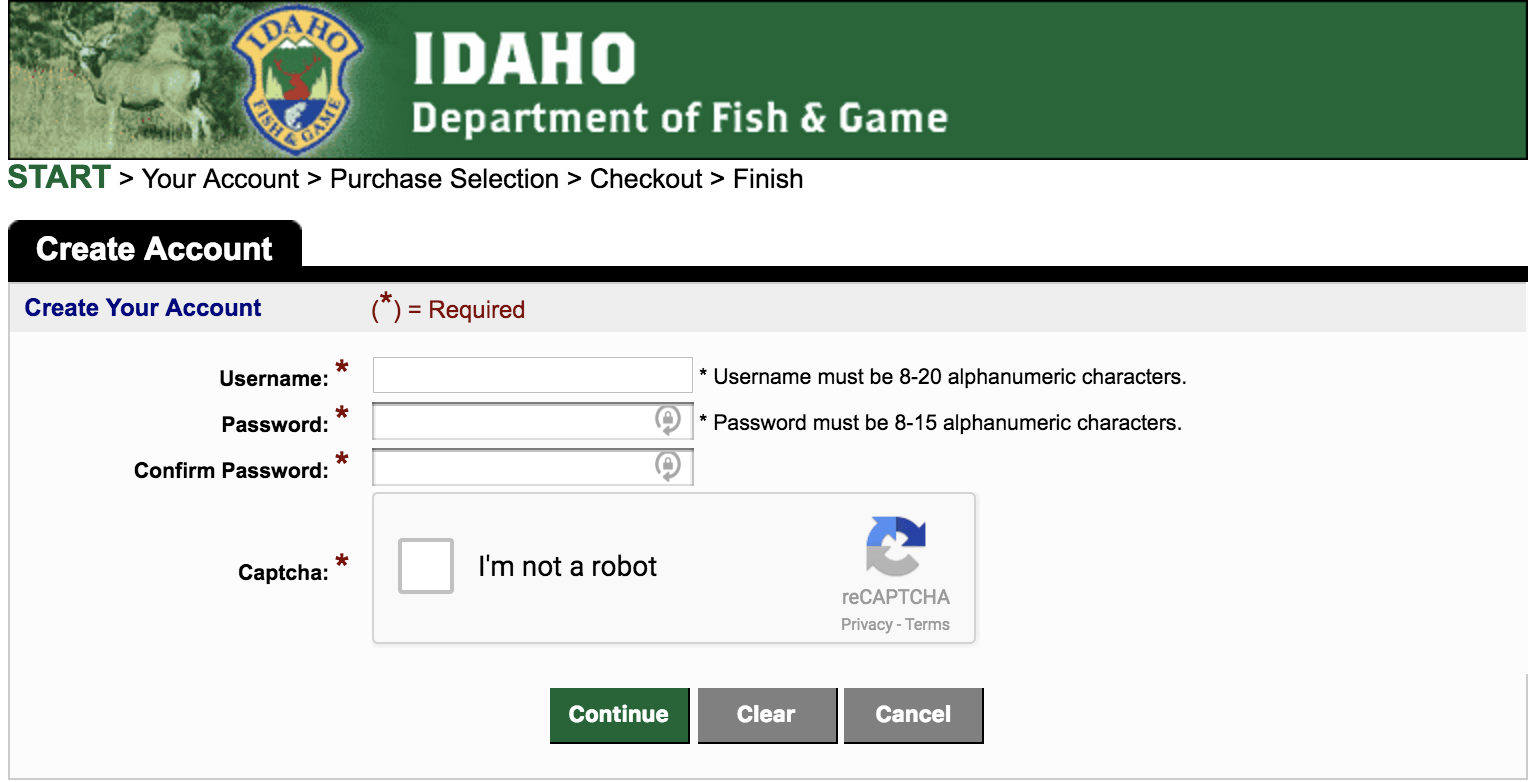 how to buy an idaho fishing license online